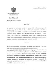 Decyzja z dnia 26 czerwca 2012 r.